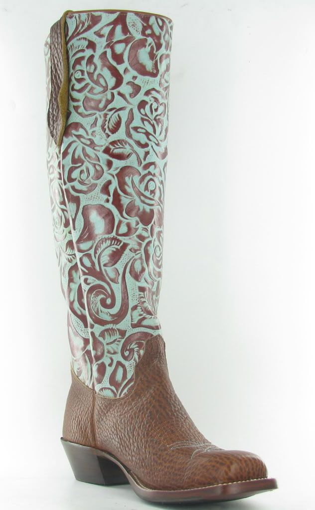 66ab3fcf5db Olathe tall tops in brown & turquoise. - Wedding Cowgirl Boot ...