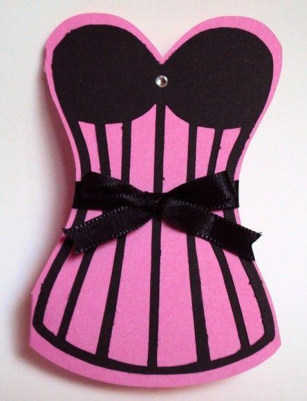 8d2296f69 Convite para chá de lingerie modelo corselet