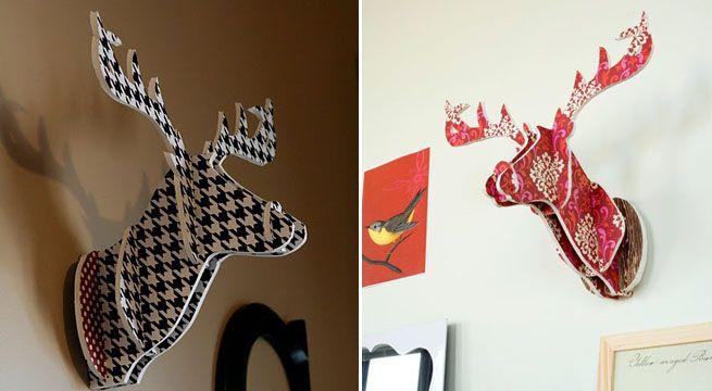 Cabeza de ciervo: hazla tú mismo – Revista Muebles – Mobiliario de ...