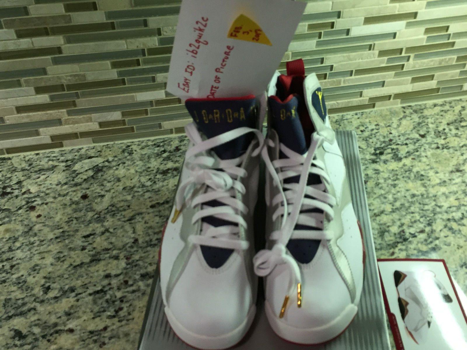 fe728e5e812d DEADSTOCK  Nike Air Jordan 7 (VII) Retro Olympic White Metallic Gold 304775  171