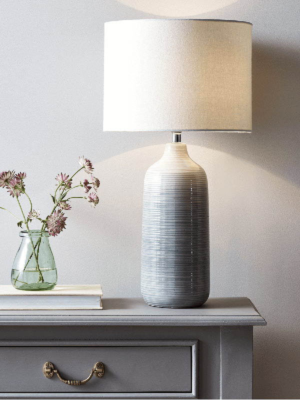 Grey Ombre Table Lamp Silver Table Lamps Table Lamps Uk Table Lamp