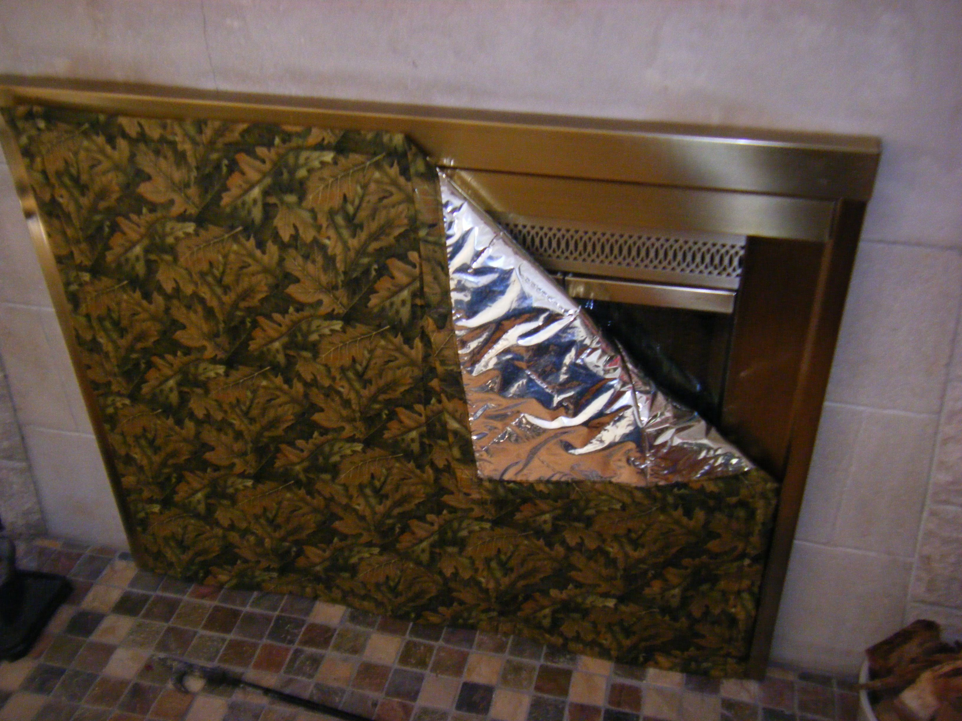 Fireplace Draft Stopper Made From Cotton Fabric And Insul Bright