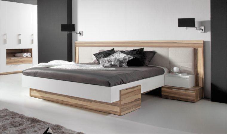 Lit design WHITE - Lit moderne 2 personnes - Chambre adulte ...
