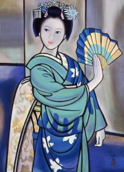 橋本明治(1904ー1991 Hashimoto Meiji)「舞」