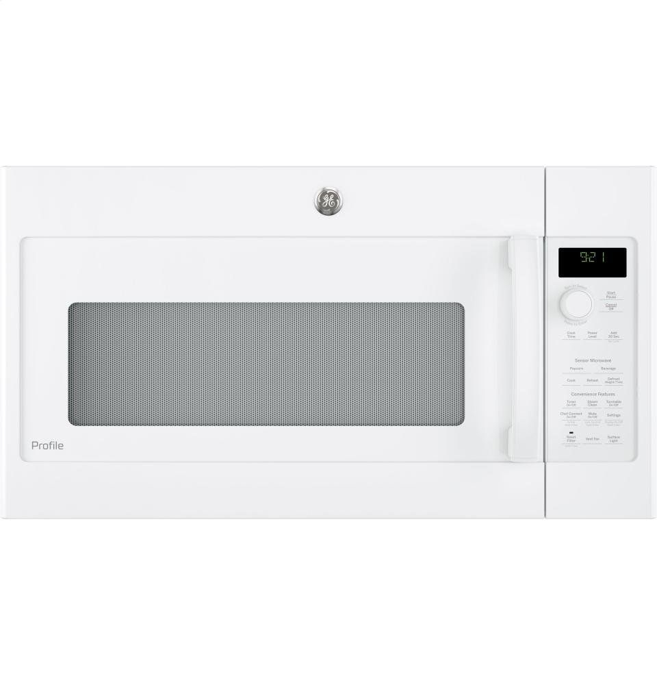 Ge Profile White Over The Range Microwave Oven This Is An