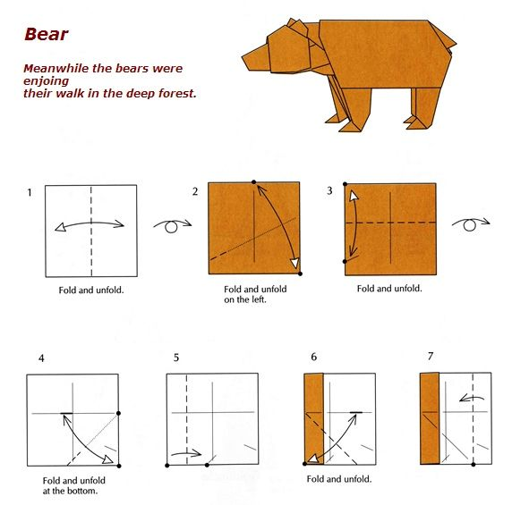 Origami Bear Instructions Origami Pinterest Origami Google