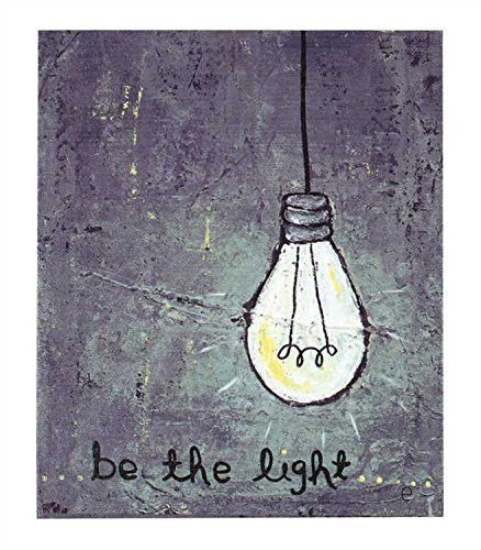 Be The Light - with Edison Light Bulb - Canvas Wall Decor 12-in ...