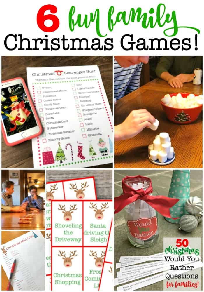 6 Fun Family Christmas Games to Play Together!   Christmas games for family, Fun family ...