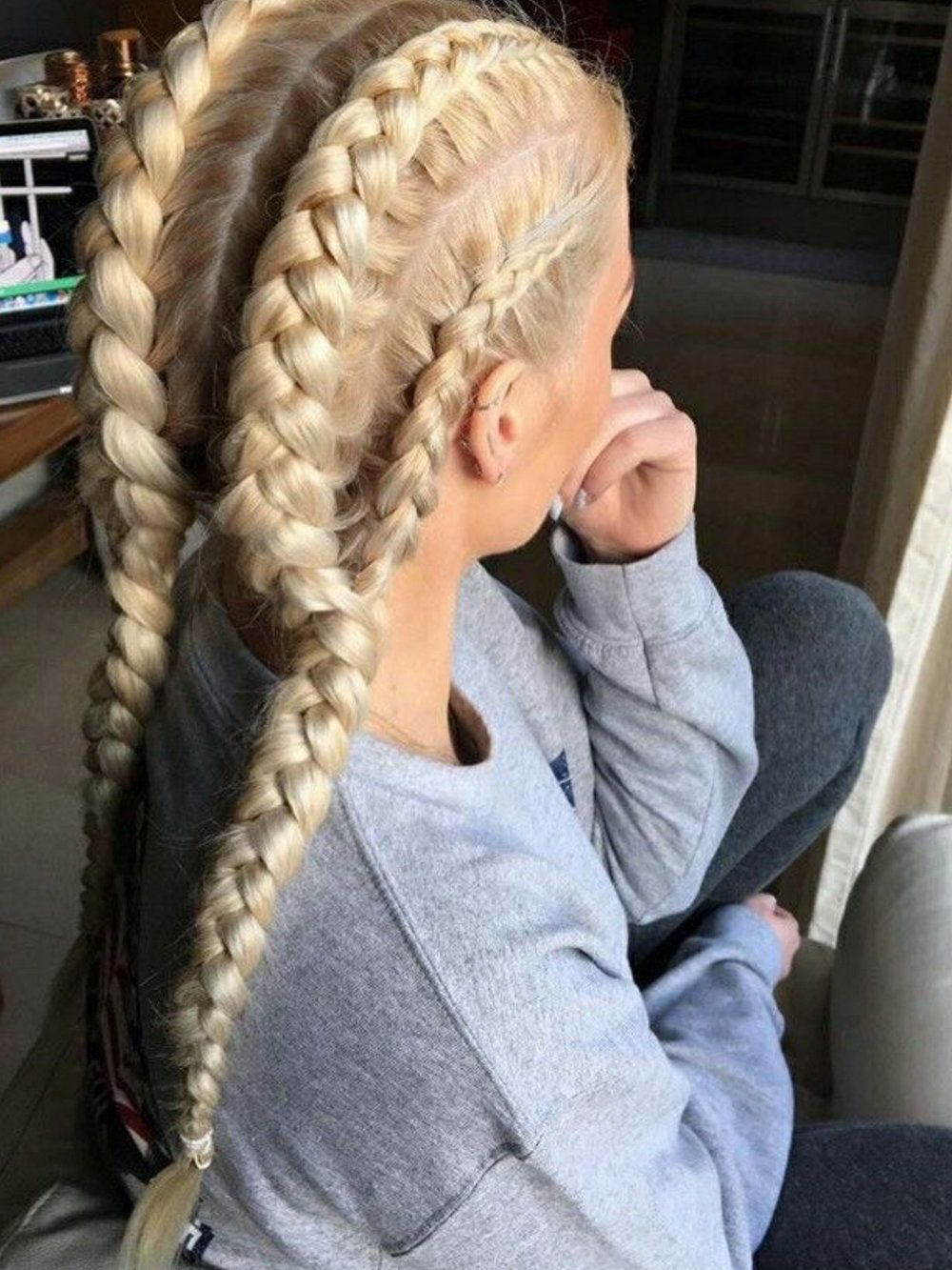 Trending  Braided Hairstyles  Beauty trends Hair style and Makeup