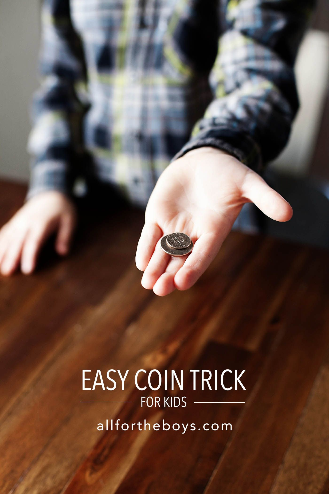 Easy Coin Trick for Kids | Magic tricks for kids, Coin ...