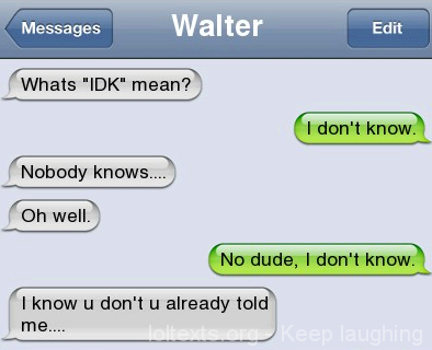 what does haha mean in text message