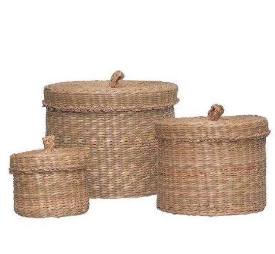 Ikea Ljusnan Set 3 Seagrass Storage Box With Lid, Handmade ...