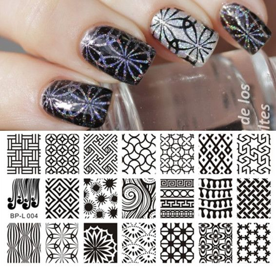 Nail Art Stamp Template Image Plate Kaleidoscope BORN PRETTY L004 - stamp template