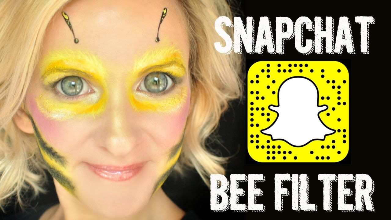 Snapchat BEE Filter Makeup Face Paint Tutorial Face