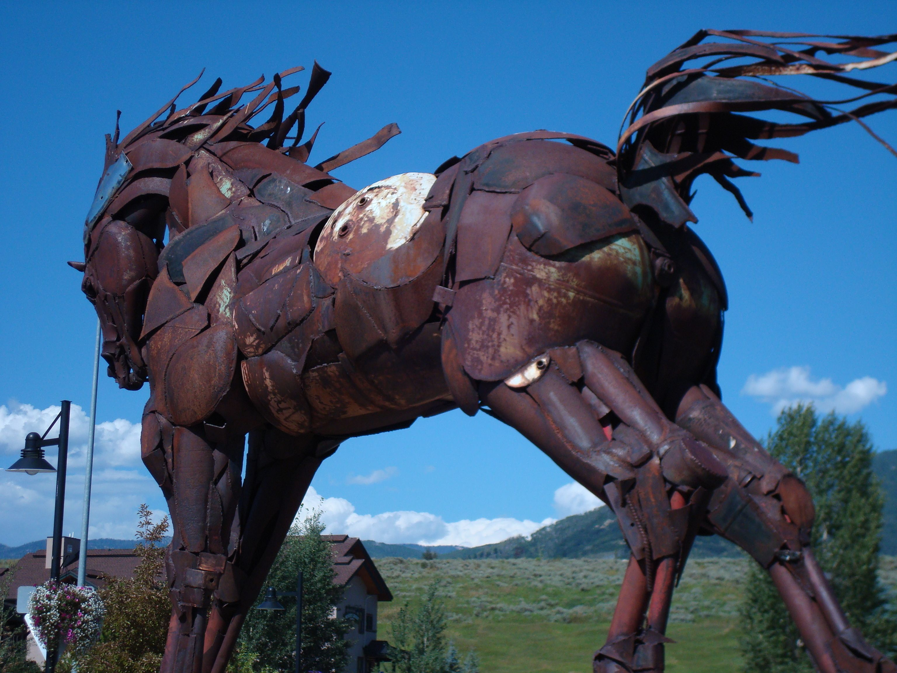 Metal horse - Steamboat Springs, Colorado