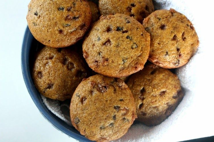 Cinnamon chip pumpkin muffins good with chocolate chips