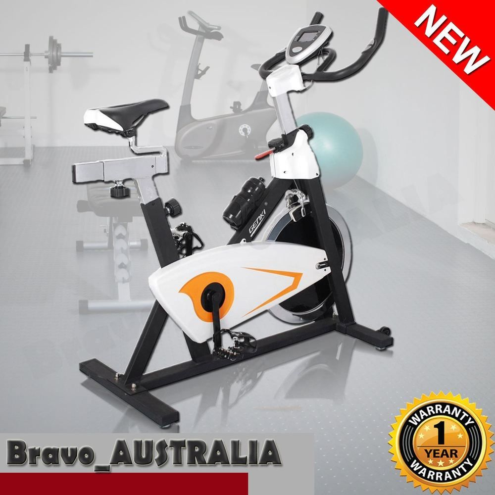 Exercise Spin Bike Fitness Flywheel Stationary W Pulse Sensors Steel Frame Biking Workout Spin Bike Workouts Bike
