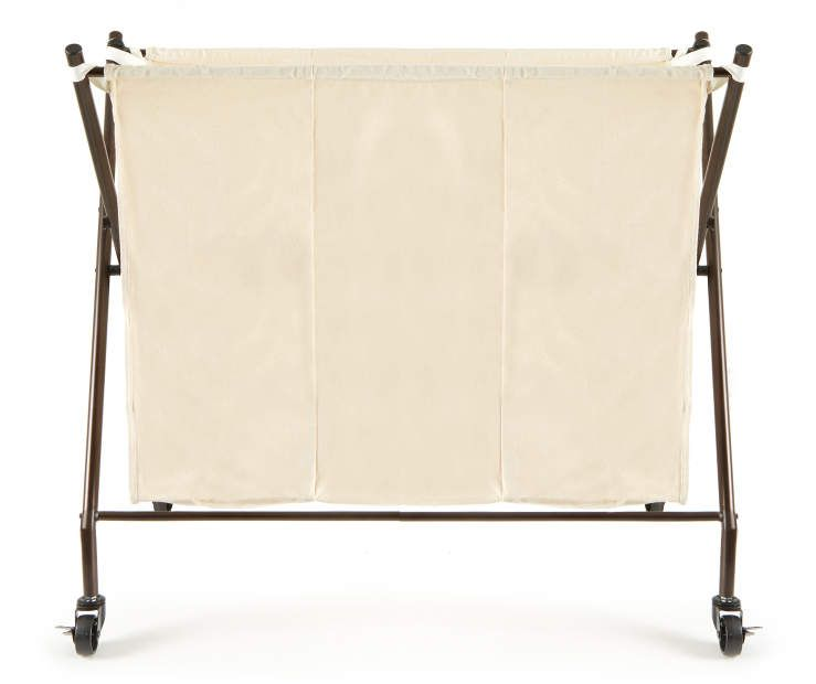 Rolling 3 Compartment Laundry Sorter Laundry Sorter Laundry