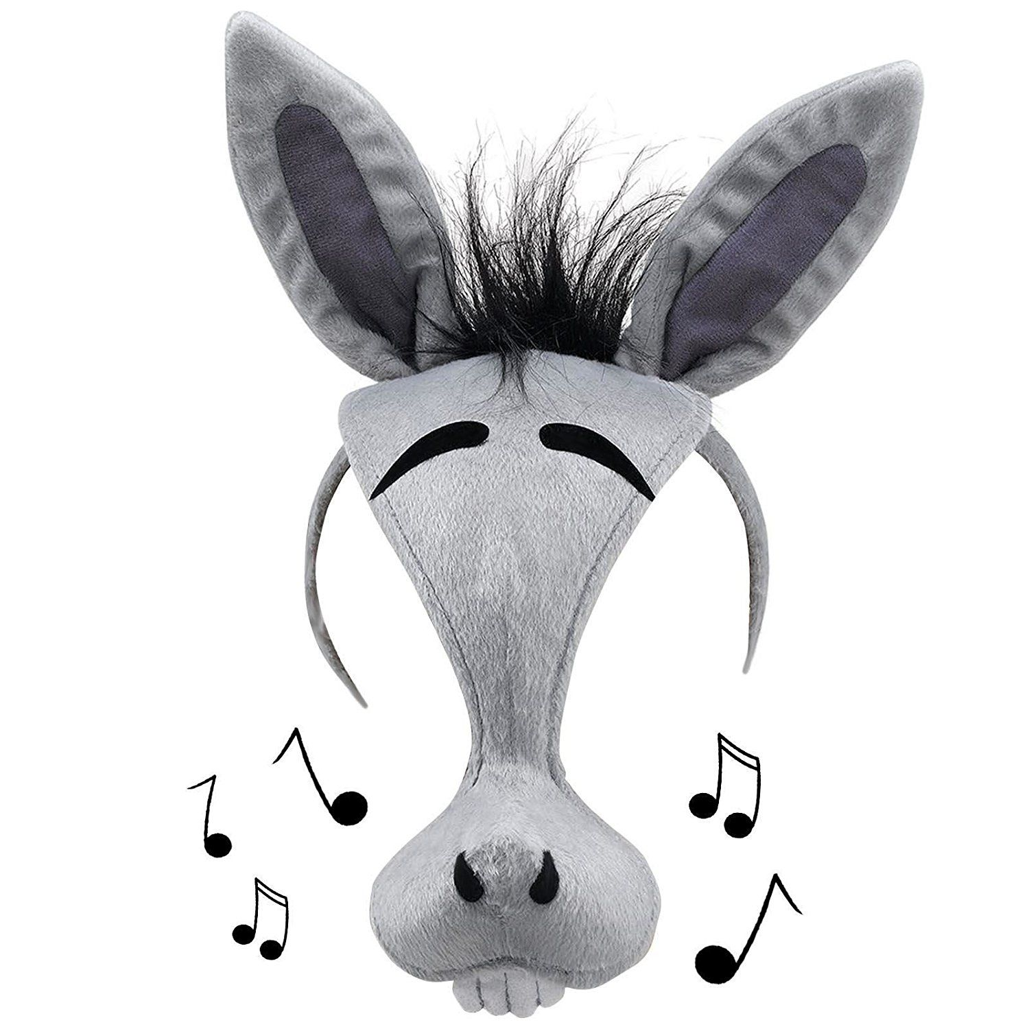 Donkey Face Mask Adult Kids Noise Sound Cartoon Animal