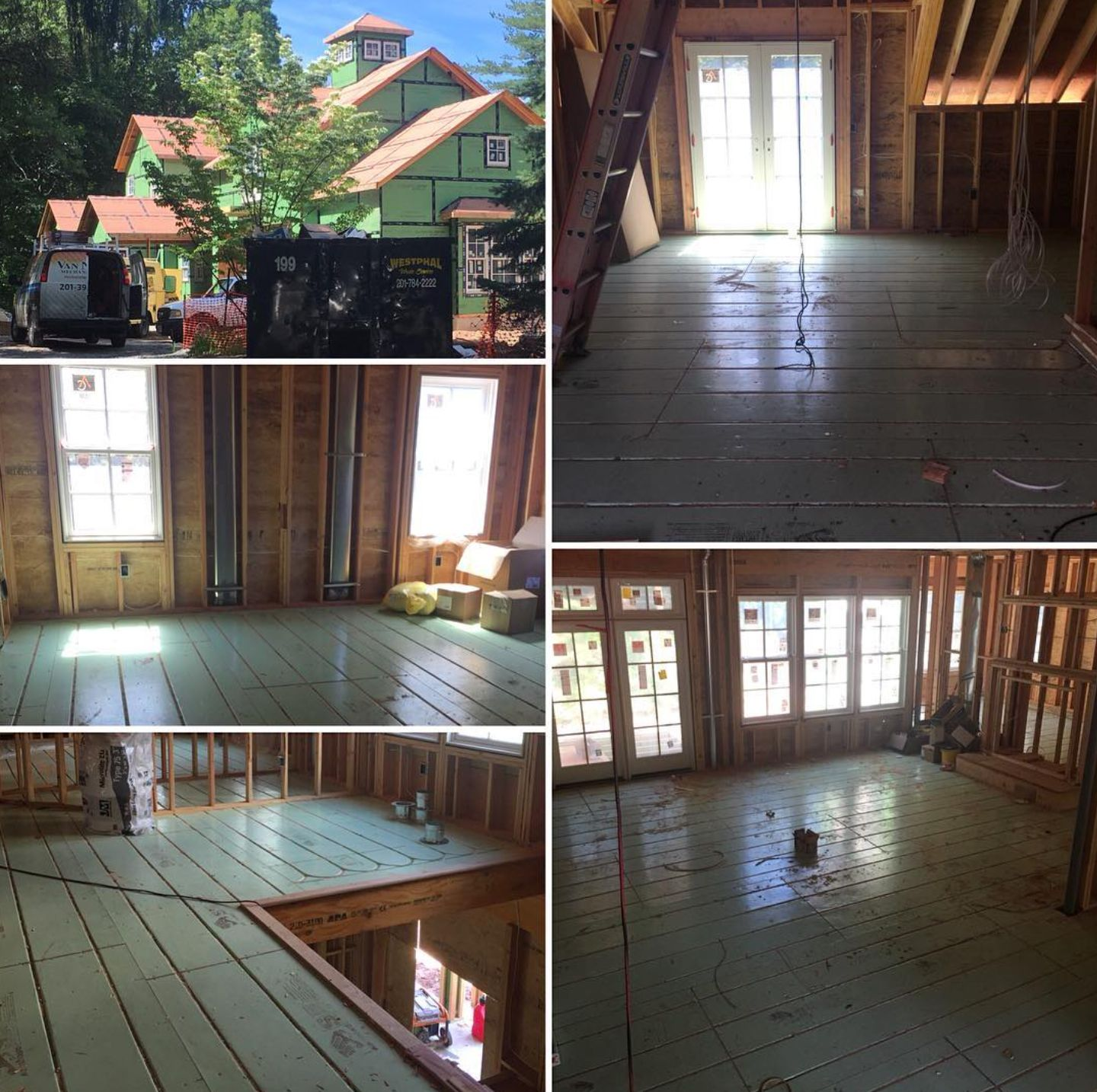 Over 5000 sq ft of Warmboard is currently being installed