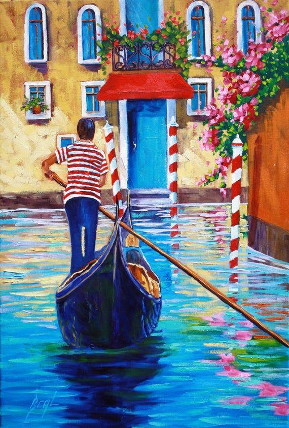 Venice Giclee Canvas Print, oil painting print, on