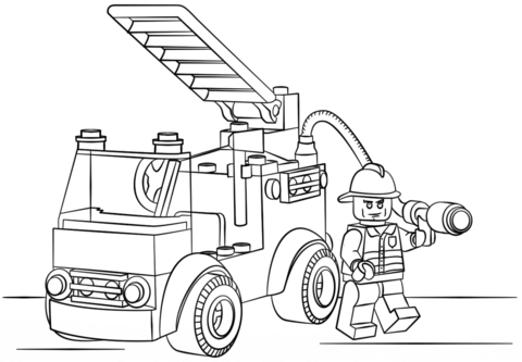 Lego Fire Truck Coloring Page Truck Coloring Pages Lego Coloring Pages Printable Coloring Pages
