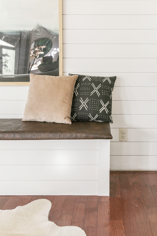 DIY Built-In Dining Bench with Storage - Breakfast Nook ...