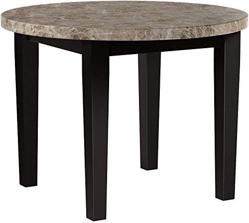 Rubberwood 40 Inch Diameter Round Drop Leaf Table Home Decor