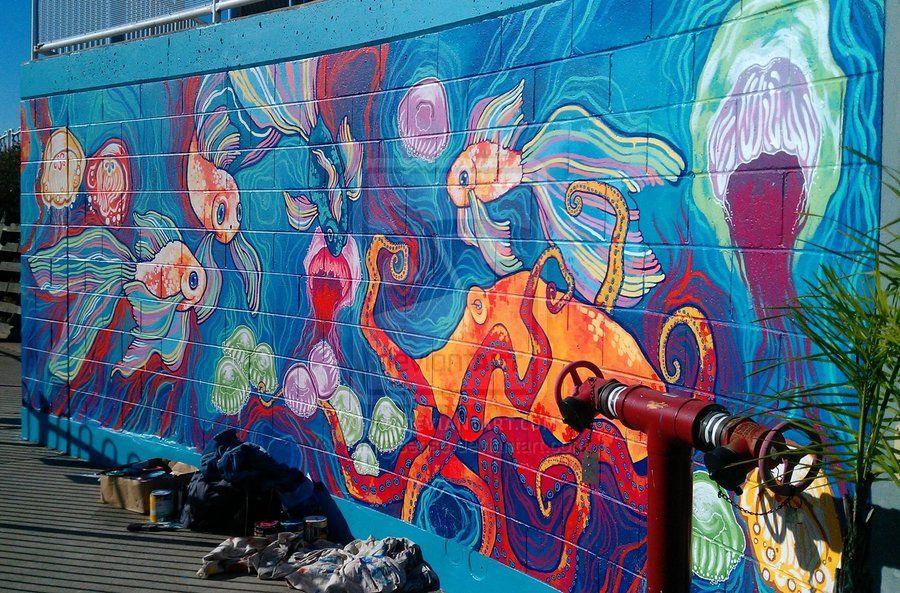 fish art aquarium graffiti