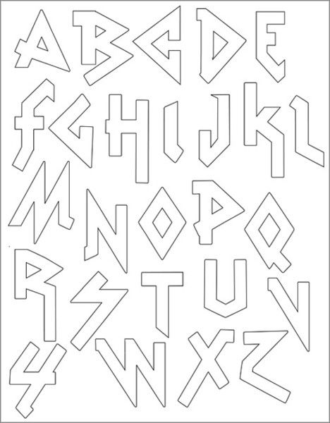 SMALL PACK Embroidery Patterns - HEAVY METAL ALPHABET | Pinterest ...