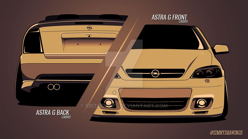 Opel Astra G Front And Back By Erithdorpliantart On