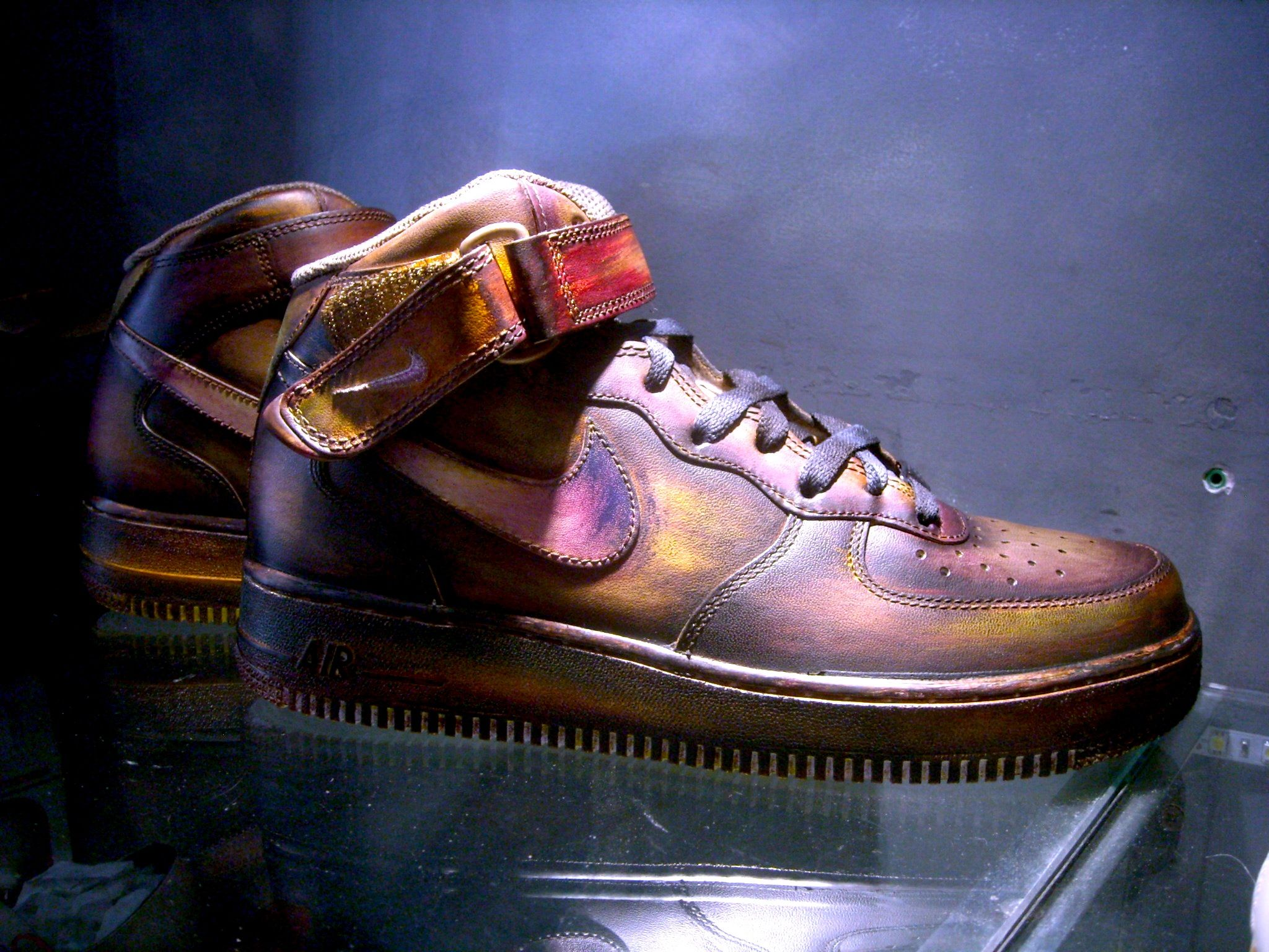 nike airforce 1 patina in 8 colors by paulus Bolten