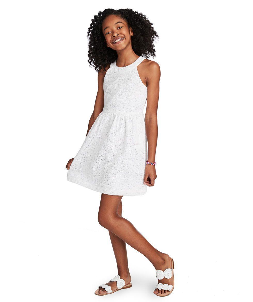 Shop Girls Eyelet Allover Dress At Vineyard Vines Long Sleeve Burgundy Dress Womens Blush Dress Maroon Lace Dress [ 1166 x 980 Pixel ]