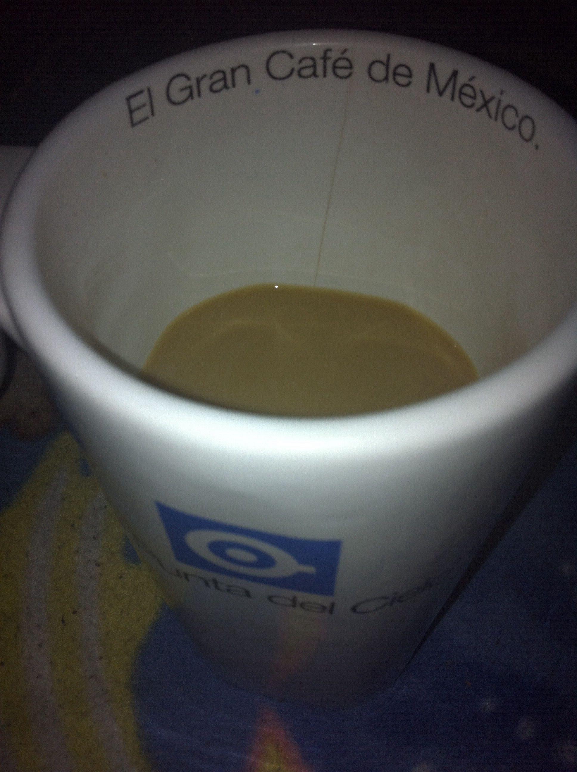 Tomando un cafecito antes de dormir