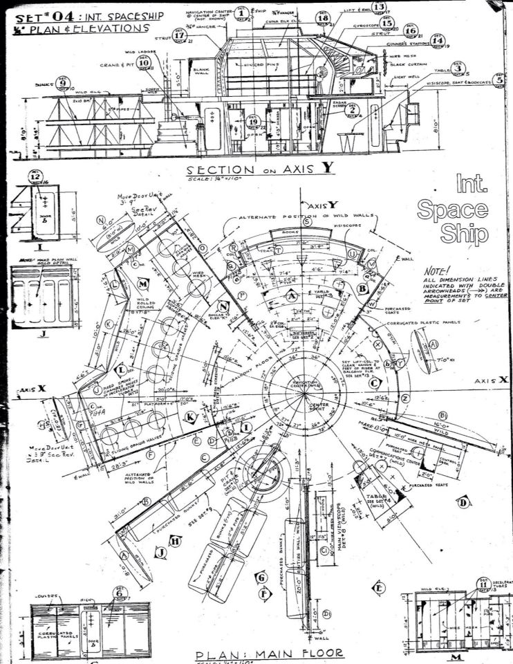 Blueprint for c 57d space cruiser forbidden planet forbidden blueprint for c 57d space cruiser forbidden planet malvernweather Image collections