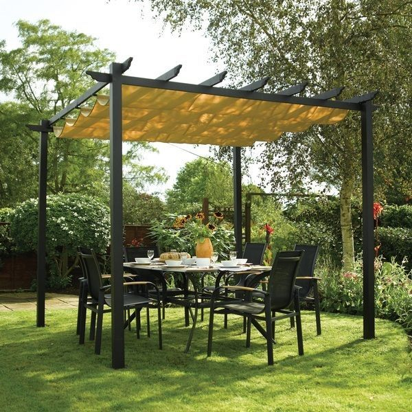 Free Standing Pergola with Canopy Metal Gazebo Garden Grape Arbor Outdoor Patio #Rowlinson #ClassicTraditionalTransitional & Free Standing Pergola with Canopy Metal Gazebo Garden Grape Arbor ...
