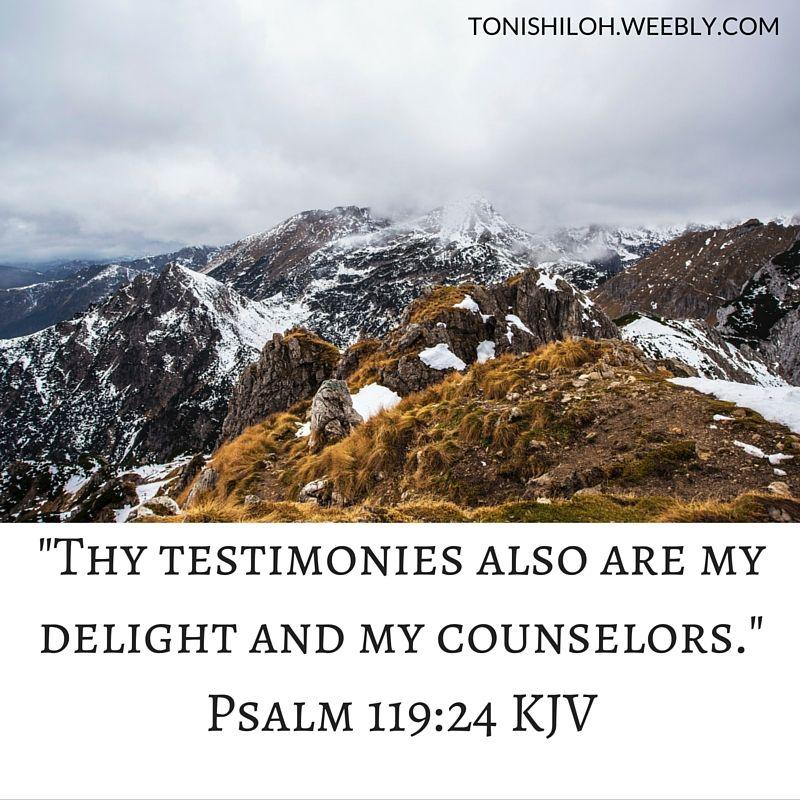 Psalm 119:24 KJV | Kjv, Psalm 119, Bible scriptures