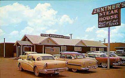 Original Zentner S Steak House San Angelo Texas West Texas