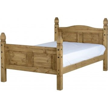 Boston Solid Oak 4ft 6 Double Bed Corona Pinterest Bed Bed