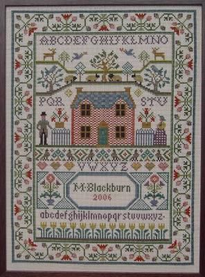 country cottage sampler cross stitch pattern cross stitch rh pinterest com country cottage cross stitch patterns country cottage cross stitch designs