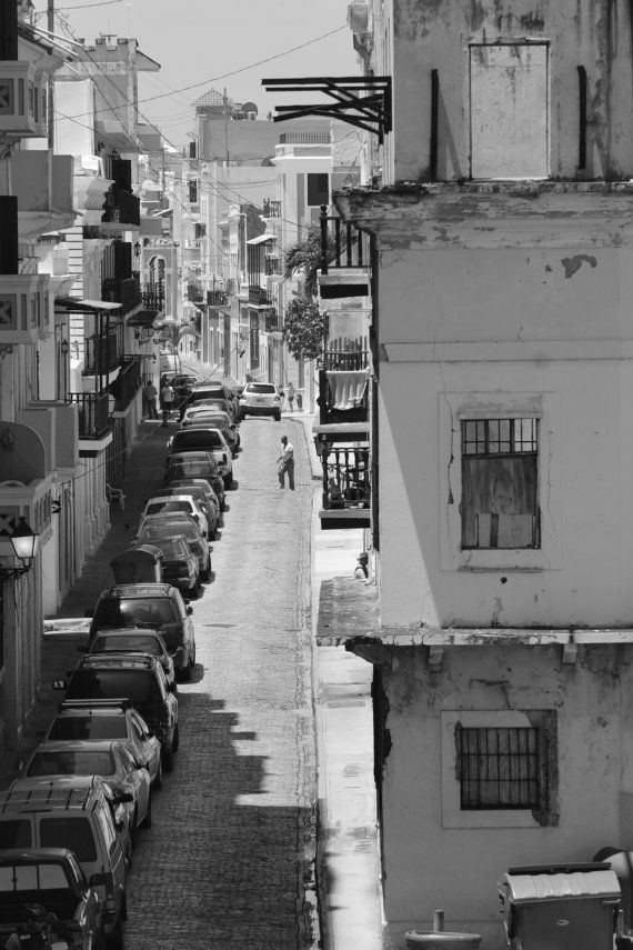 Black and white prints puerto rico street art photography architectural photography print rustic industrial home decor urban art