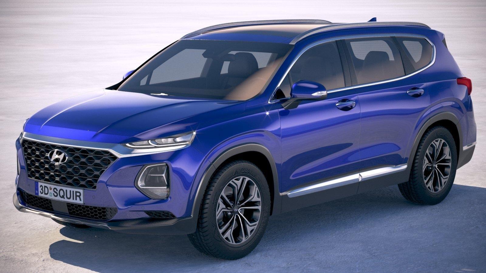 Hyundai SantaFe 2019 3D Model AD ,SantaFeHyundaiModel