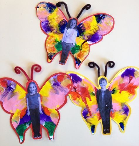 A butterfly project for preschool and elementary kids! Could use paint or feath...- Moi #preschool