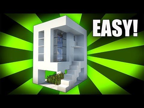 Minecraft How To Build A Easy Small Modern House Tutorial 5 Pc Xboxone Ps4 Pe Xbox360 Ps3 You Minecraft Modern Minecraft Small House Minecraft Mansion