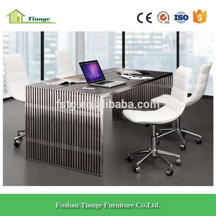 steel office desks. Contemporary Design Tempered Glass Table Top Amici Stainless Steel Office Desk Desks