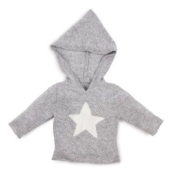 Jersey con estrella y capucha para bebés de Zara Home en Etoile No.5 www.etoileno5.com