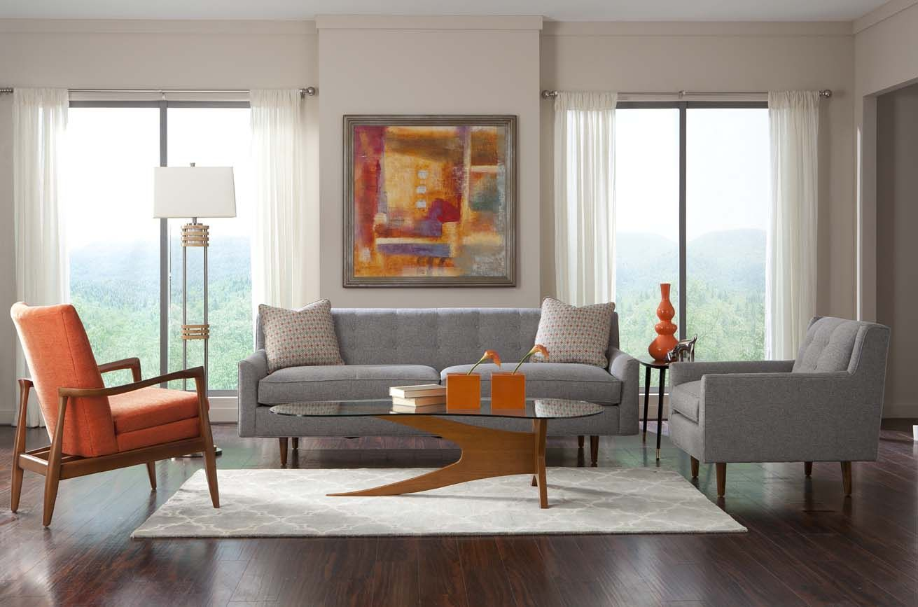 kempner couch and harris chair (rowe) - 84x32 | furniture: couches
