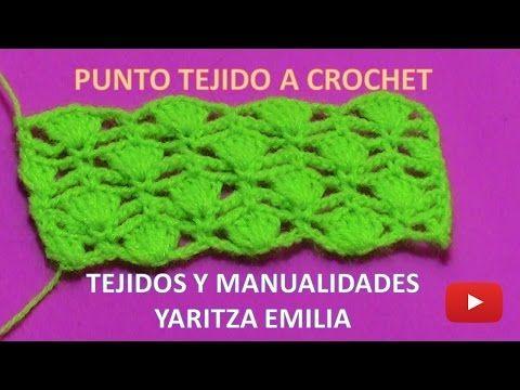 punto tejido a crochet fácil y rápido para prendas tejidas - YouTube ...