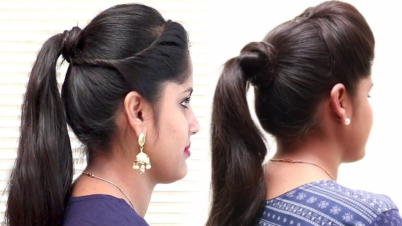 3 Easy Ponytail Hairstyles For School College Prom Ponytail For Medi Hairstyles For School Ponytail Hairstyles Easy Low Ponytail Hairstyles