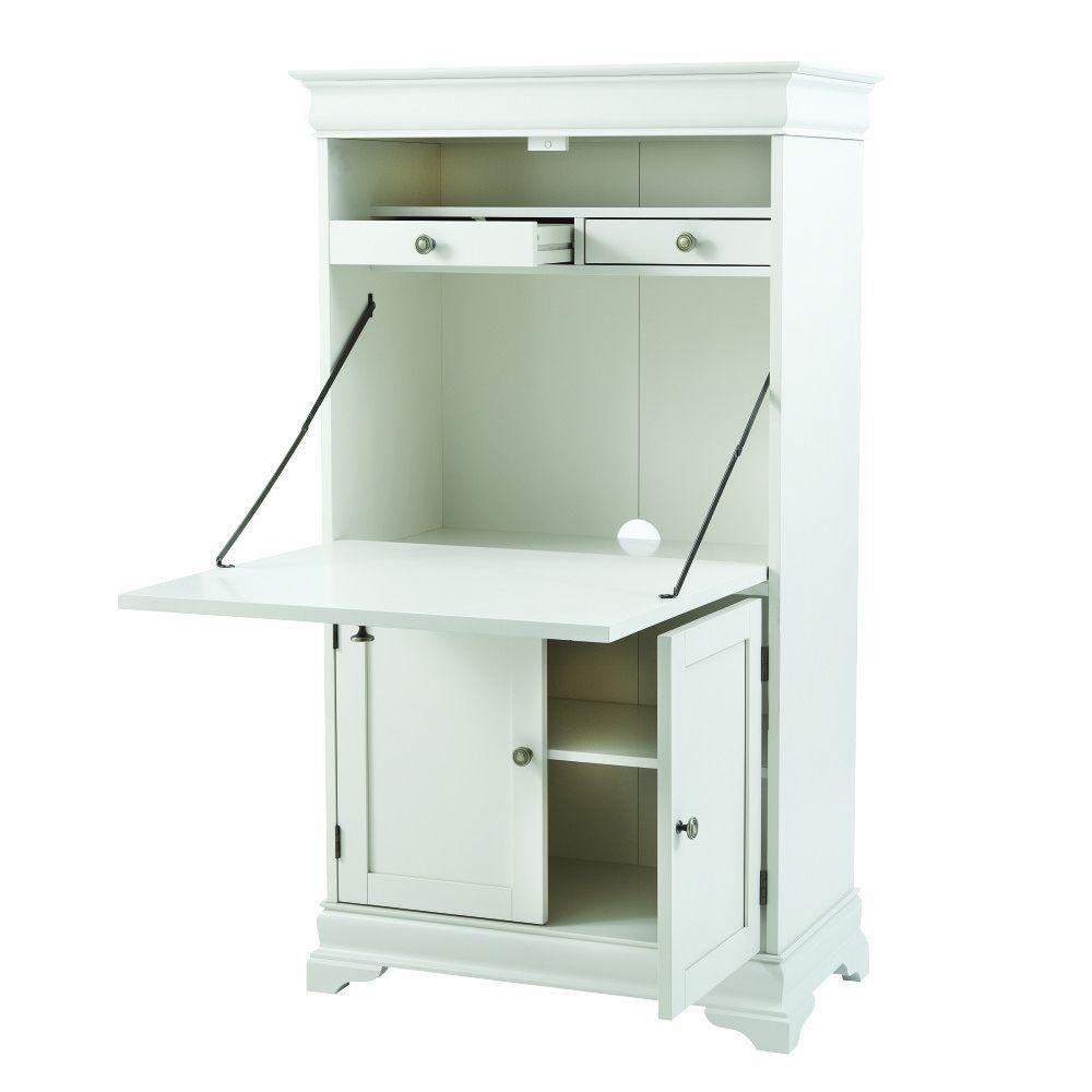 Home decorators collection louis polar white secretary